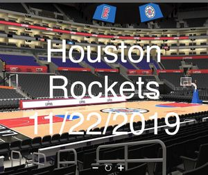 HOUSTON ROCKETS VS LA CLIPPERS ROW 10 CLUB SEATS - 2 TICKETS for Sale in Torrance, CA