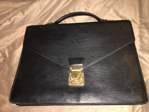 Louis Vuitton Black Epi Porte Document Laptop Case for Sale in Denver, CO