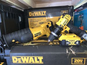 Dewalt hammer drill and saw Zaw 1 battery no charger firm price for Sale in Plant City, FL