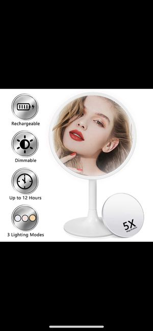 Lighted Makeup Mirror, 3 Color Dimmable Vanity Mirror with 1X/5X Magnification for Sale in Phillips Ranch, CA