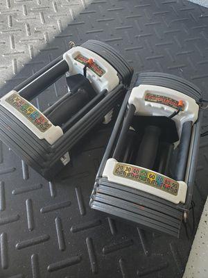 POWERBLOCK ADJUSTABLE DUMBBELLS 5-50LBS!! for Sale in Tampa, FL