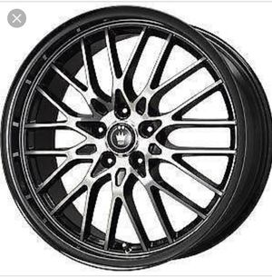 Set of Five Konig 16x7 Lace Black Wheel with Machined Face Rims for Sale in Mount Holly, NJ
