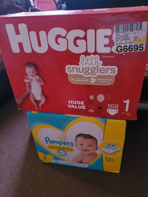 New diapers never opened! for Sale in Mitchell, IL