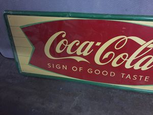 Vintage Coca-Cola sign for Sale in Grand Prairie, TX