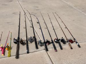 FISHING RODS AND REELS for Sale in Glendale, AZ