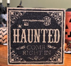 HAUNTED Halloween Decoration Box Sign for Sale in Elk Grove, CA