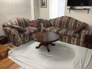 Sofa set with wood table for Sale in Alexandria, VA