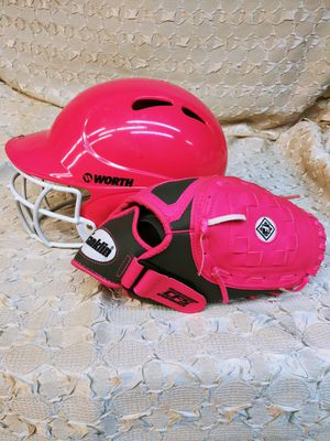Like New Girl's Softball Helmet & Glove for Sale in West Collingswood Heights, NJ