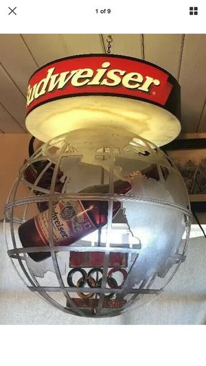 1996 Budweiser Olympic Games Atlanta Globe Light for Sale in Los Angeles, CA
