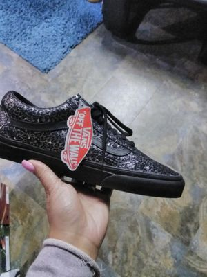 Vans all black and silver specs for Sale in Tampa, FL