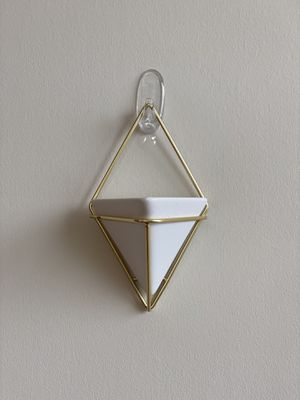 Mini Ceramic/Brass Geometric Wall Decor Container (2 Containers) for Sale in Rockville, MD