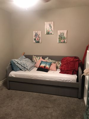 Memory foam mattress & Trundle bed-frame for Sale in Kansas City, MO