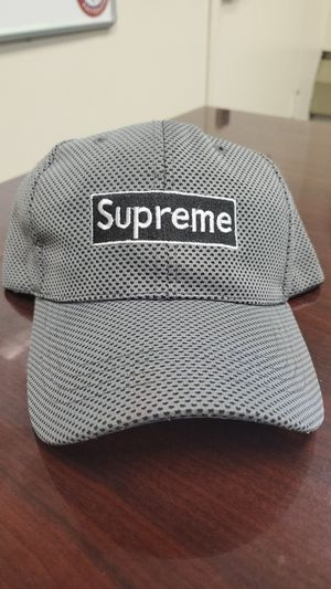 Gently used Grey Supreme Hat (adjustable) for Sale in Washington, DC