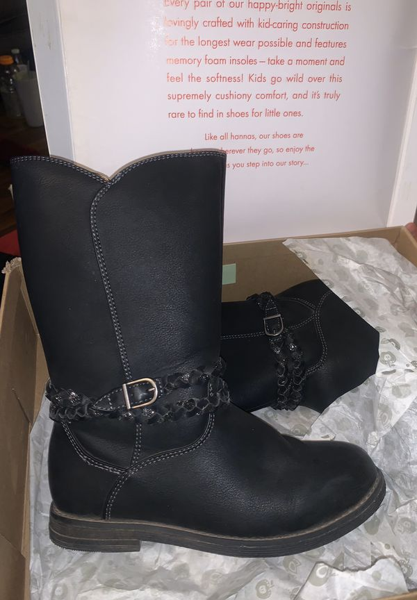 HANNA ANDERSSON BLACK LEATHER BOOTS