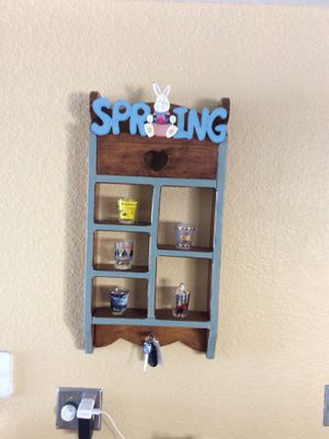 Spring Wall Key Holder and Shelves for Sale in Las Vegas, NV