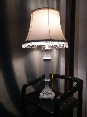 Beaded lamp shade and lamp for Sale in Fresno, CA