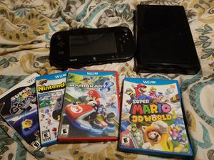 Wii U Console Gamepad 4 Mario Games for Sale in Austin, TX