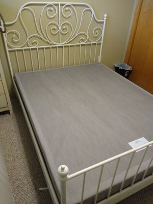 Ikea queen bed frame and Tempupedic bed base for Sale in Sioux Falls, SD