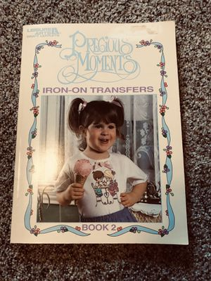 Precious moments iron on transfer book for Sale in Edgewood, WA