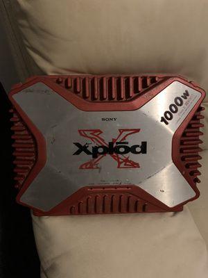 Sony xplod amplifier 1000watts for Sale in Brooklyn, NY