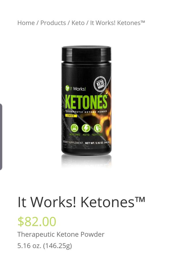 INVESTMENT OPPORTUNITY**It Works! KETO DIET LEMON MIX