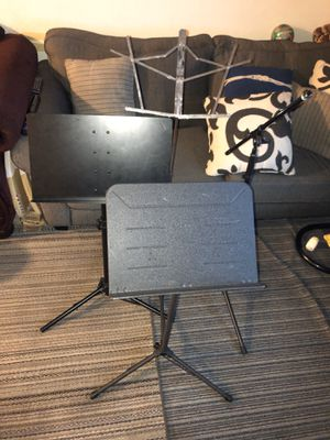 Music stands and microphone stand for Sale in Riverside, CA