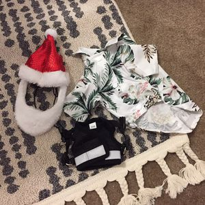 Small Dog/kitten Harness, Christmas Hat, and Hawaiian Shirt for Sale in Garden Grove, CA
