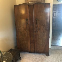 Antique Armoire Double Doors Sturdy Wood for Sale in Portland,  OR