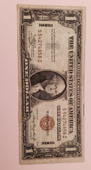 1935 Hawaii one dollar bill for Sale in Lake Forest, CA