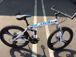 """MTB Sport Bike 🚲 26"""" Mountain Bicycle Foldable With Full Suspension And Dual Disc Brakes 21 Speed for Sale in Los Angeles, CA"""