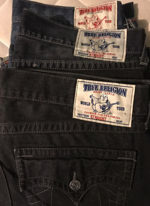 3 Pairs!! True Religion Size 40 for Sale in Manassas, VA