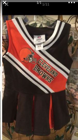 Little girls euc Cleveland Browns cheerleader dress stretch polyester 2 toddler for Sale in Northfield, OH