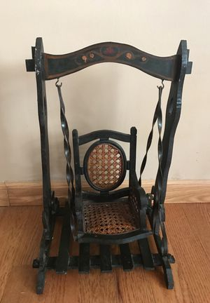 Antique wooden doll swing for Sale in Columbus, OH