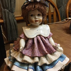 Vintage Zampive Porcelain Doll / Made In Italy for Sale in Bellmawr, NJ