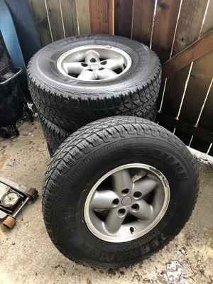 Jeep tj/xj wheels tires for Sale in Renton, WA