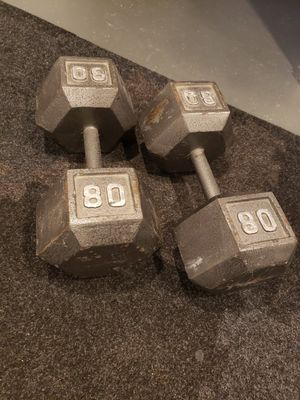 Free weights / dumbbells 80lb set for Sale in Huntington Woods, MI