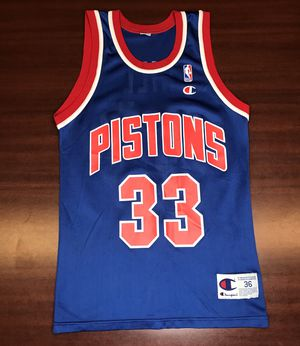 Vintage Champion Grant Hill Jersey Detroit Pistons Athletic 36 for Sale in Hayward, CA