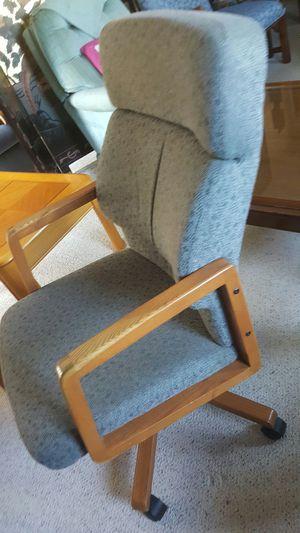 Light blue fabric office chair for Sale in Harrisonburg, VA