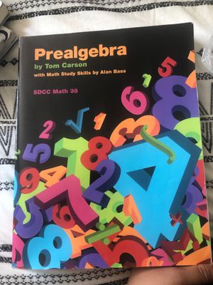 Prealgebra by Tom Carson- SDCC MATH38 for Sale in Imperial Beach, CA