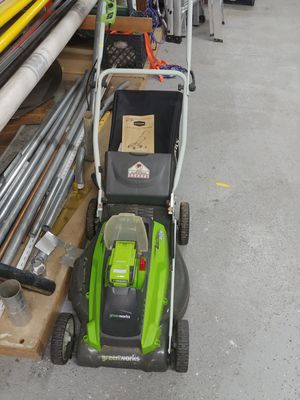 Greenworks lawn mower for Sale in Marlboro Township, NJ