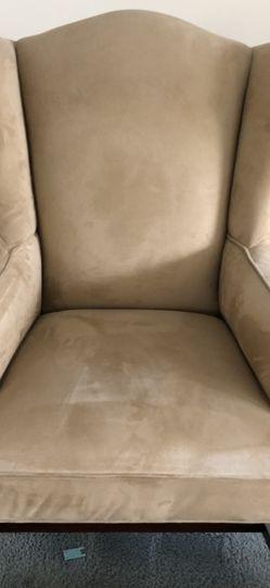 Beige Velvet Chair for Sale in Glendora,  CA