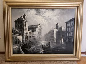 Venice Italy Canal Professionally Framed Canvas Print for Sale in Livermore, CA