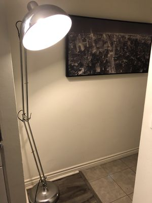 Silver floor lamp - retro for Sale in Los Angeles, CA
