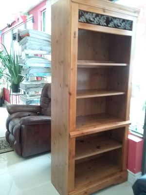 Solid wood bookcase $89. With light. Bookshelves for Sale in Oakland Park, FL