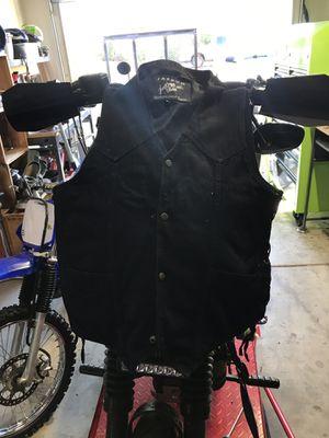 Black Denim Motorcycle Vest for Sale in Scottsdale, AZ