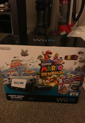 Wii U 32GB. 2 games included pre installed+ super smash CD, Mario party 10 and Mario kart 8 for Sale in Greensboro, NC
