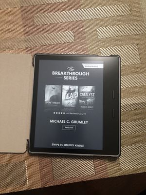 Kindle Oasis E-reader w/ case for Sale in Snellville, GA