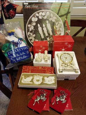 Christmas items. All brand new. Porcelain, pewter, glass. for Sale in Irwindale, CA
