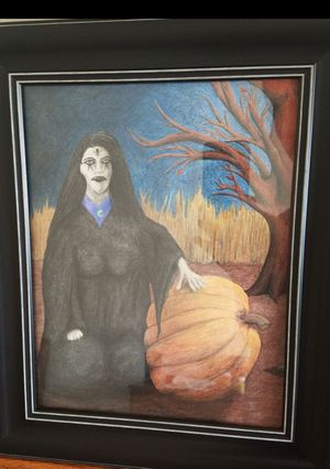 Halloween Witch Drawing for Sale in Rogers, MN