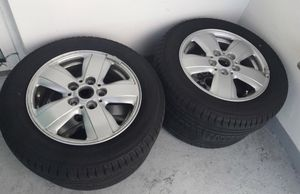 """15 x 5 aluminum wheel and tires 20142017 Mini Cooper , almost new, located in Miami by Brickell at """"The roads"""" Ph :{contact info removed} for Sale in Miami, FL"""